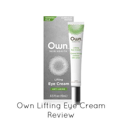 Own Lifting Eye Cream Review