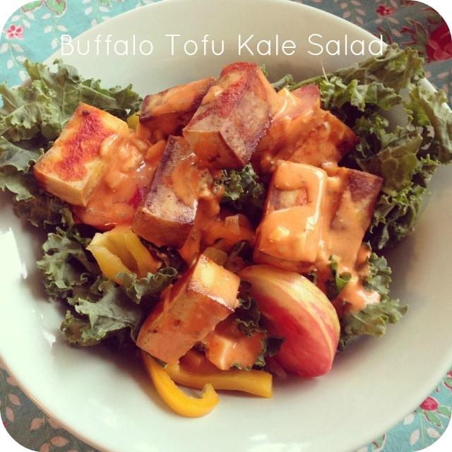 Buffalo Tofu Kale Salad Recipe
