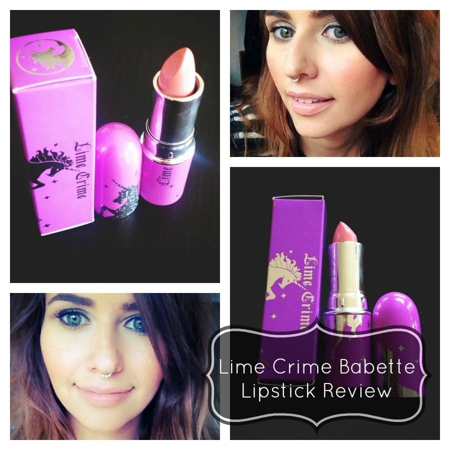 Lime Crime Babette Lipstick Review