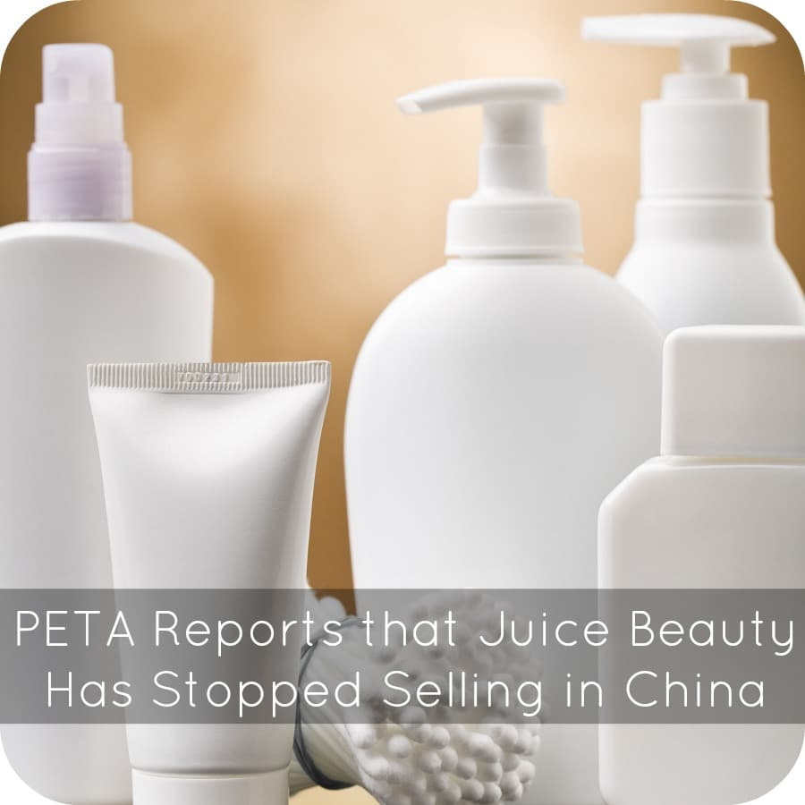 PETA Reports that Juice Beauty Has Stopped Selling in China