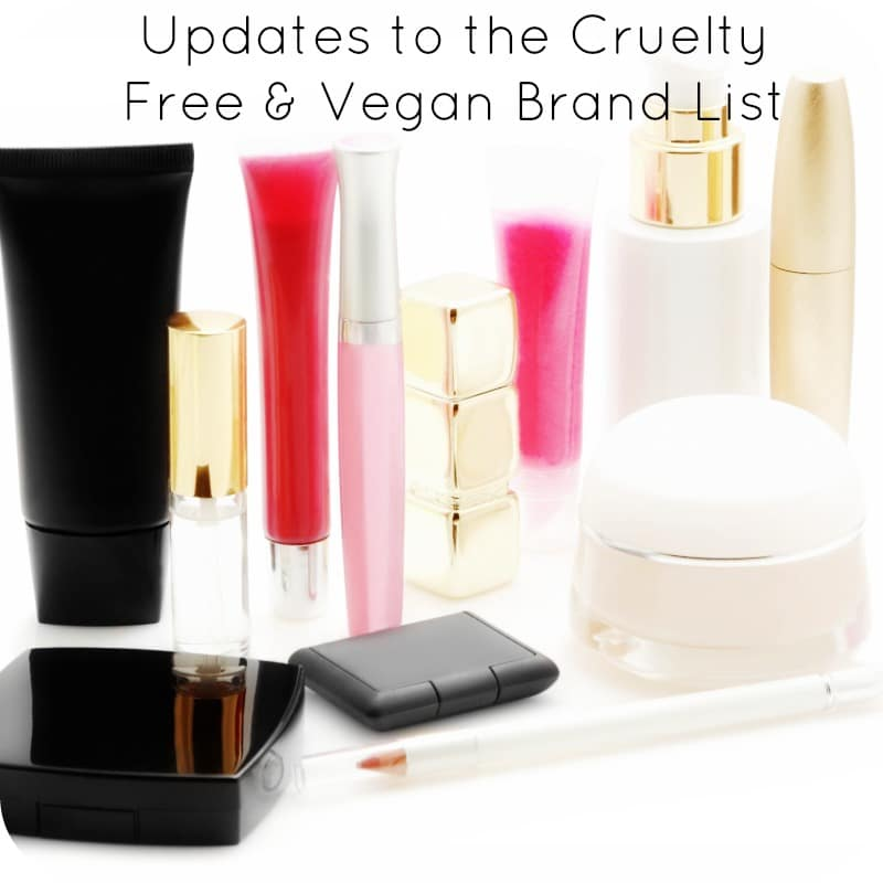 Updates to the Cruelty Free & Vegan Brand List