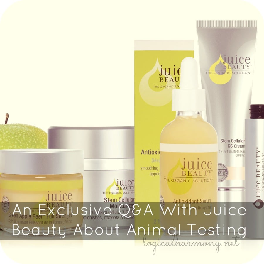 An Exclusive Q&A With Juice Beauty About Animal Testing
