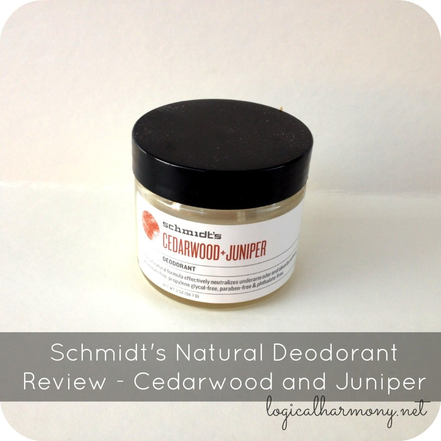 Schmidt's Natural Deodorant Review - Cedarwood and Juniper