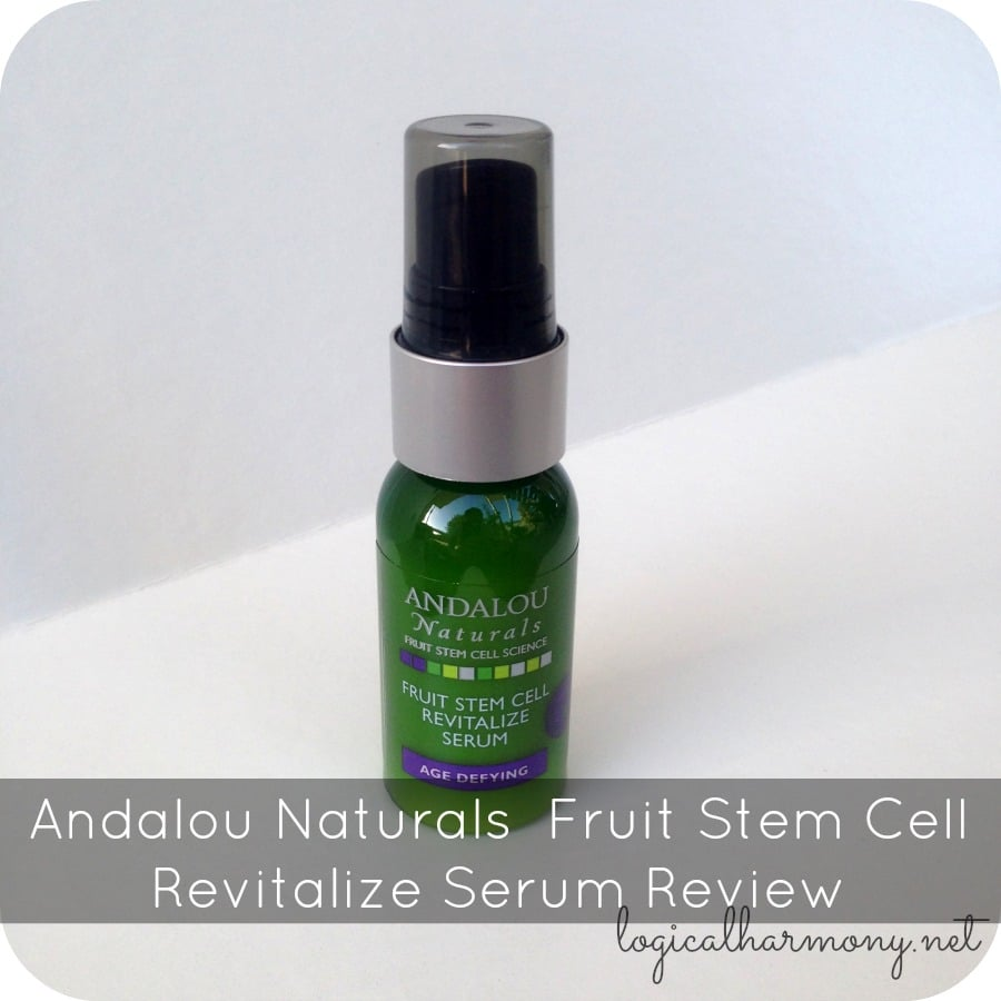 Andalou Naturals Fruit Stem Cell Revitalize Serum Review