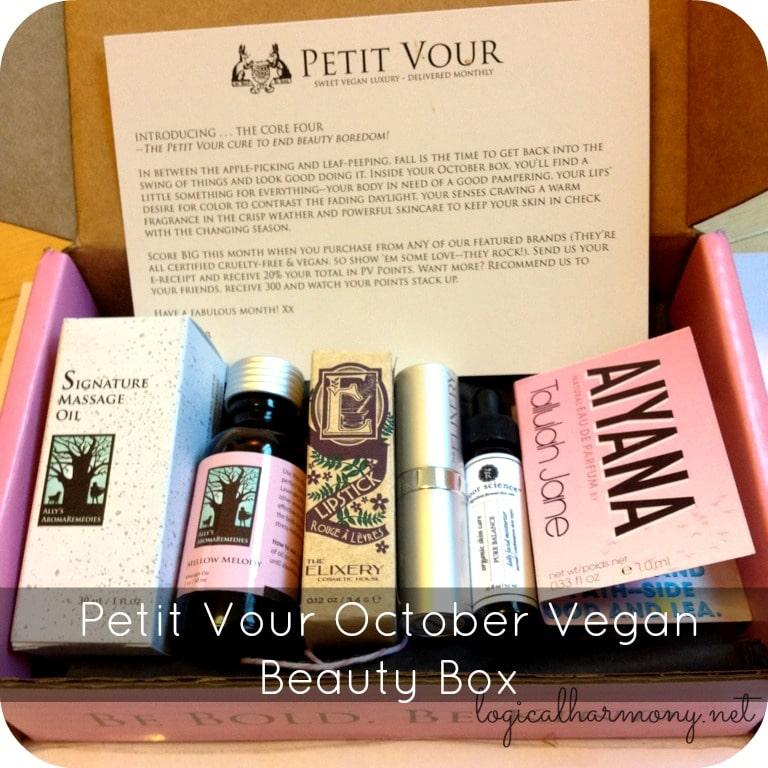 Petit Vour October Vegan Beauty Box