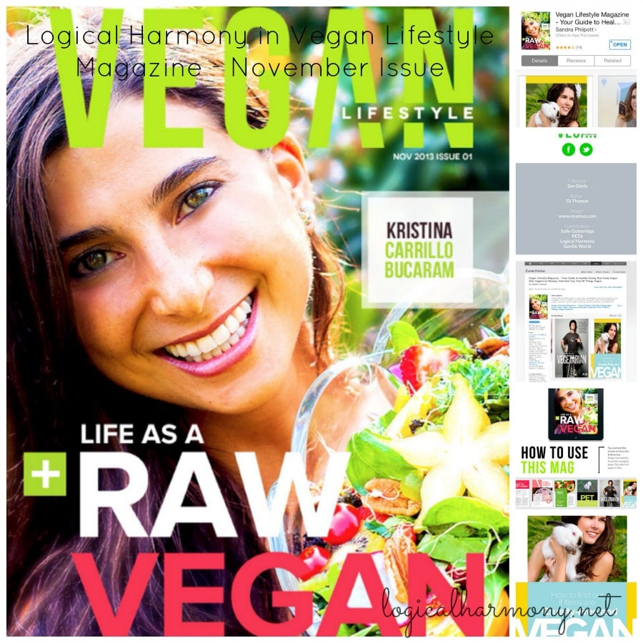 Logical Harmony in Vegan Lifestyle Magazine - November Issue