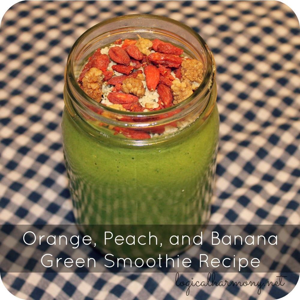 Orange, Peach & Banana Green Smoothie Recipe