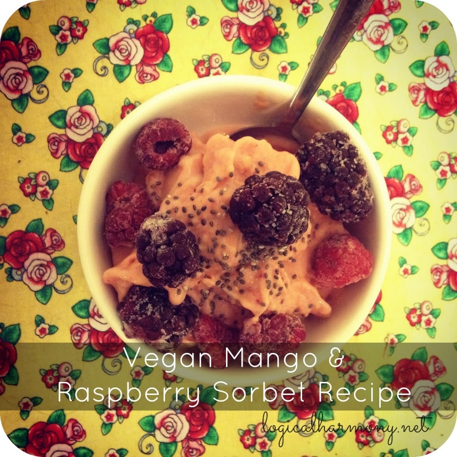 Vegan Mango & Raspberry Sorbet Recipe