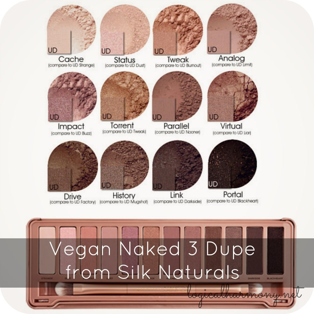 Vegan Naked 3 Dupe from Silk Naturals