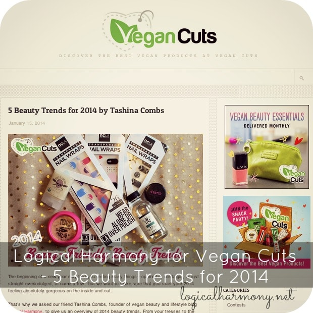 Logical Harmony for Vegan Cuts - 5 Beauty Trends for 2014