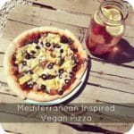 Mediterranean Inspired Vegan Pizza