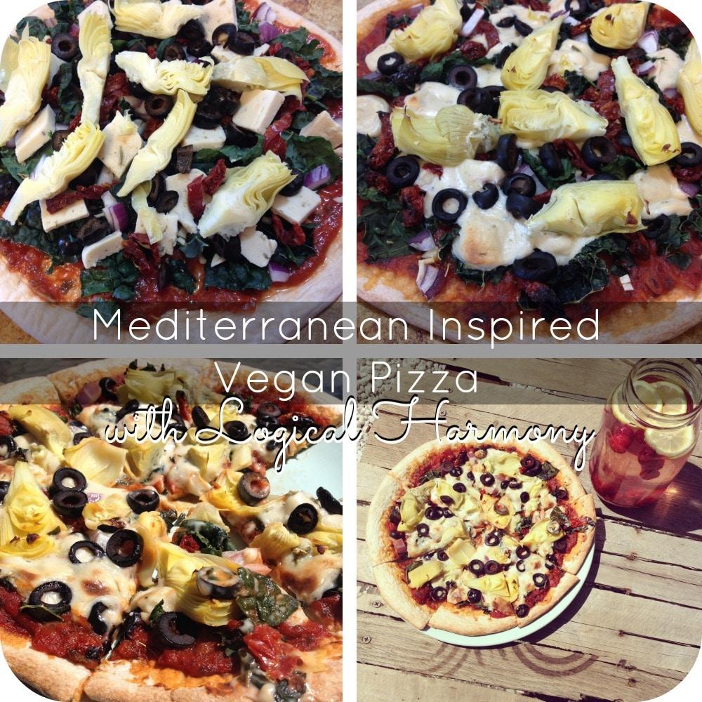 Mediterranean Inspired Vegan Pizza
