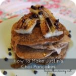 How to Make Justin's Chai Pancakes