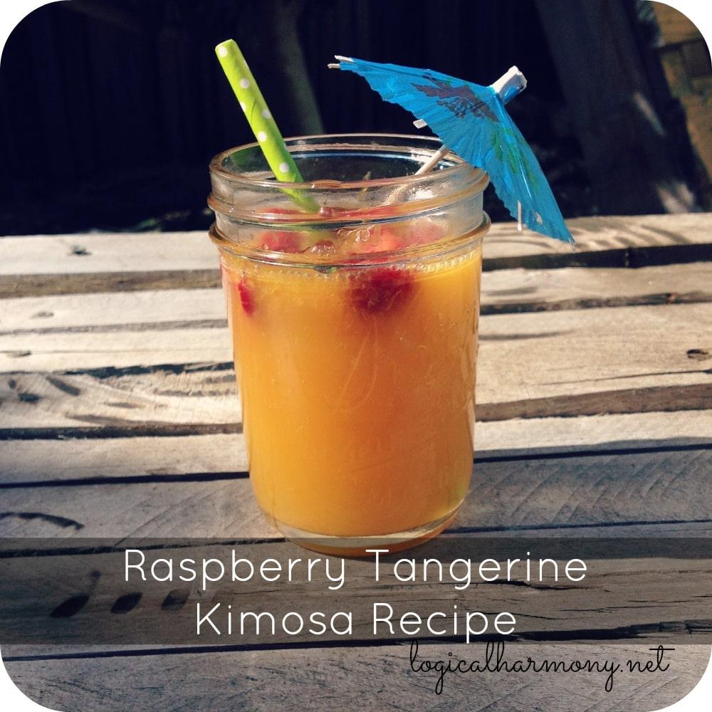Raspberry Tangerine Kimosa (Kombucha Mimosa) Recipe