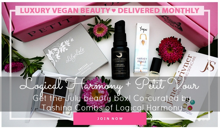Logical Harmony is Co-Curating the July Petit Vour Beauty Box!
