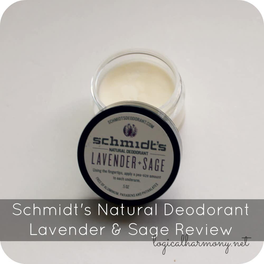 Schmidt's Natural Deodorant Lavender & Sage Review
