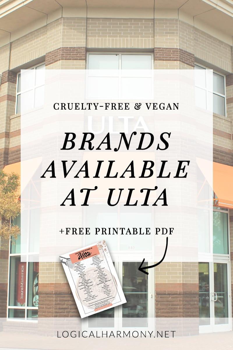 Cruelty Free Fashion Runways Cruelty Free Fashion: Cruelty-Free Brands At Ulta (UPDATED FOR 2017!)