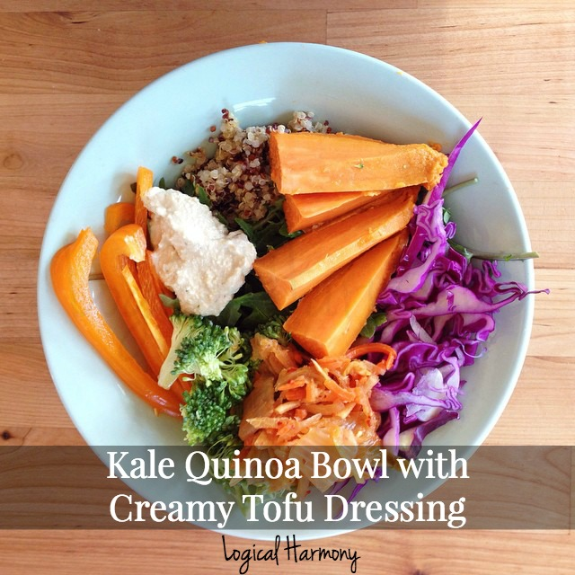 Kale Quinoa Bowl with Creamy Tofu Dressing