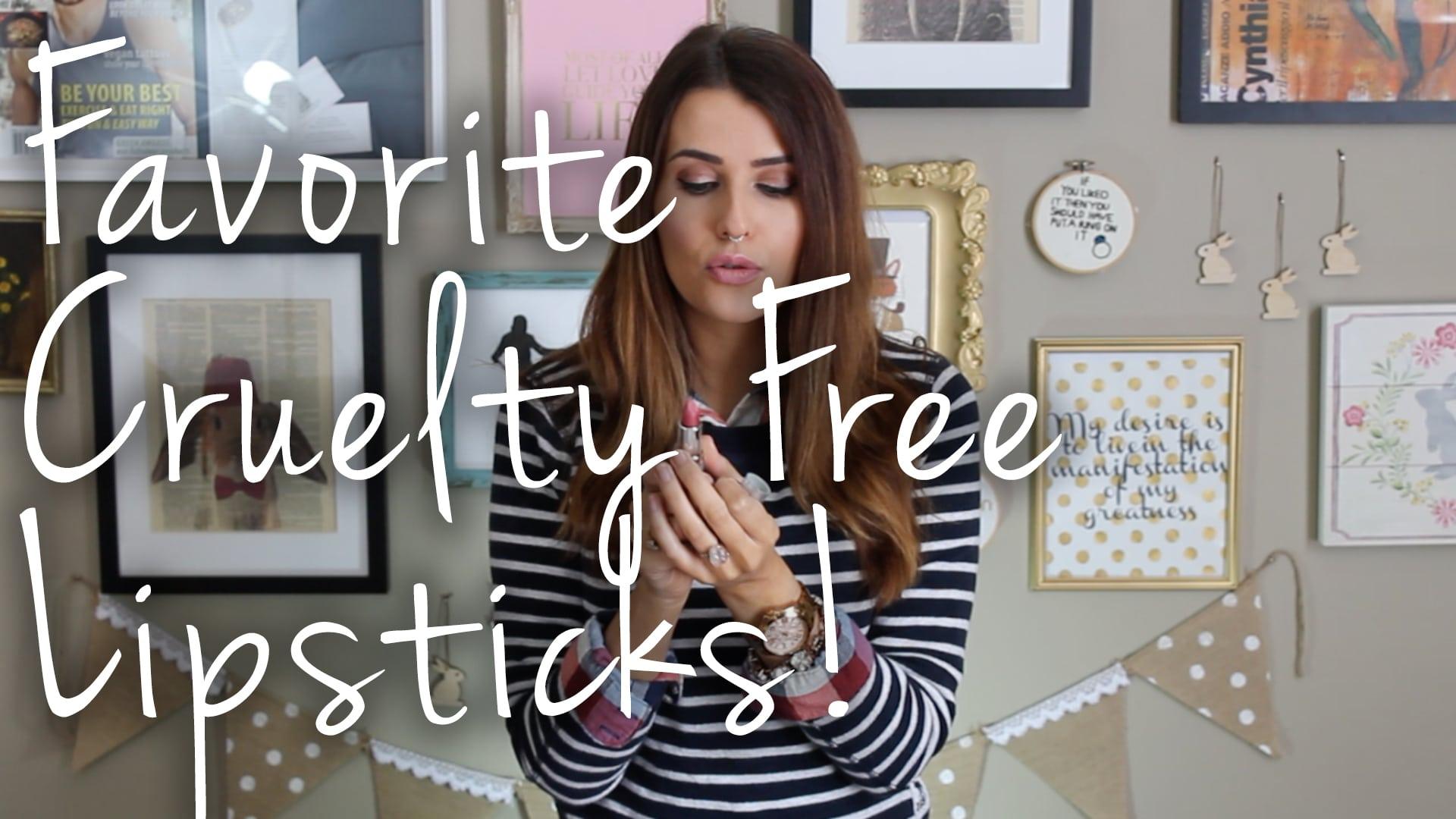 My Favorite Cruelty Free Lipstick Brands Video