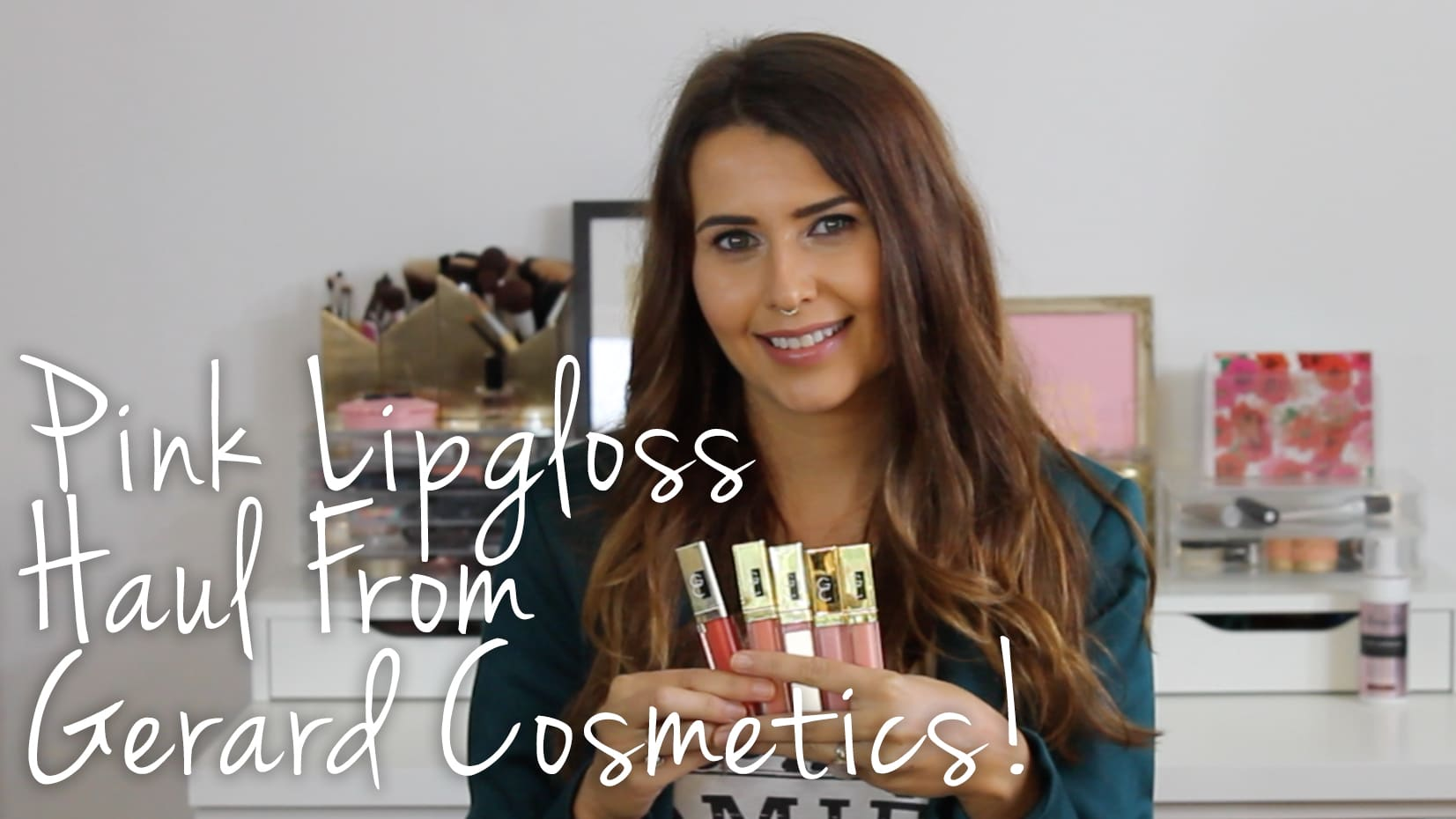 Gerard Cosmetics Pink & Coral Lip Gloss Haul & Swatches Video