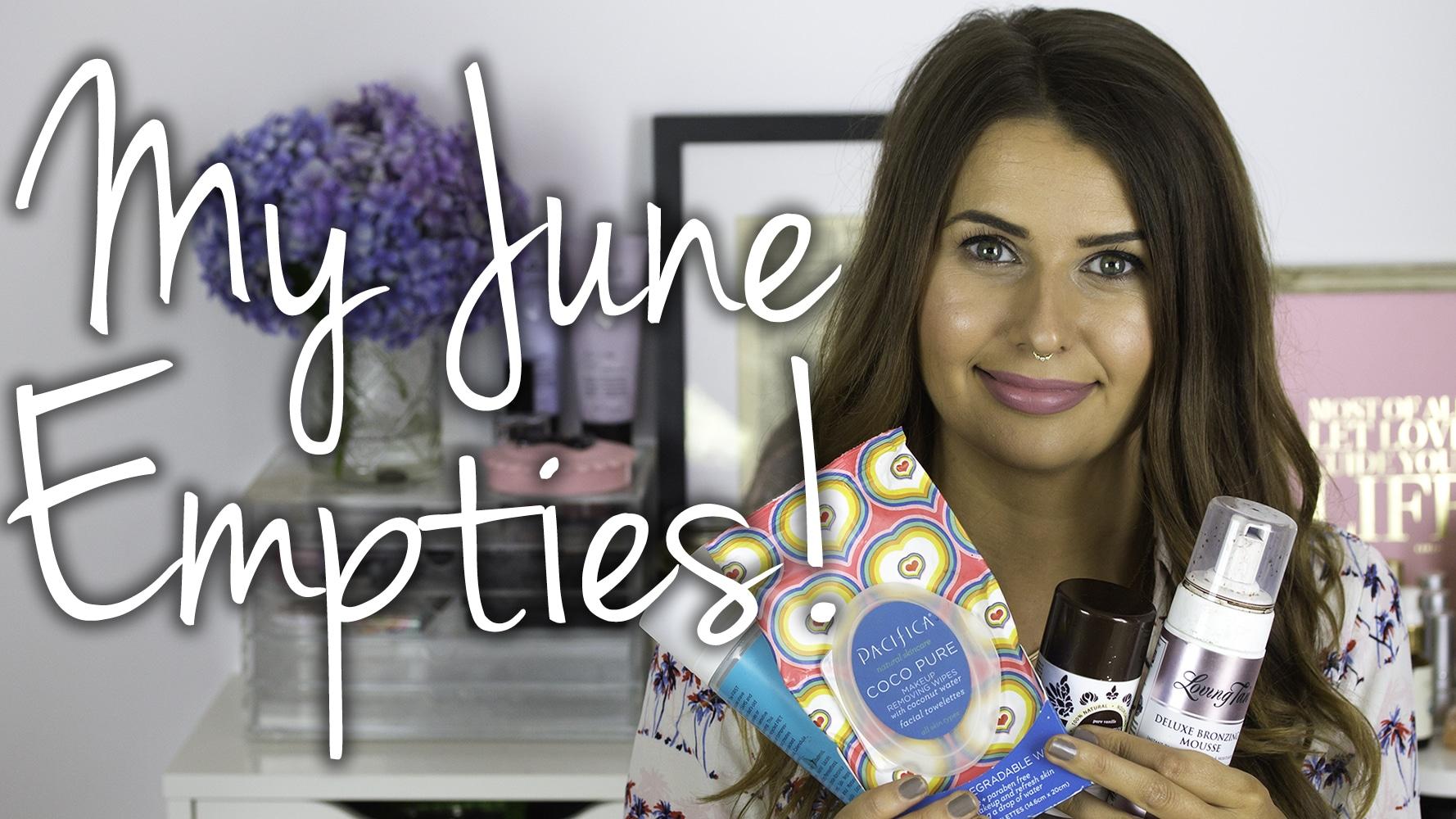 June 2015 Empties Video