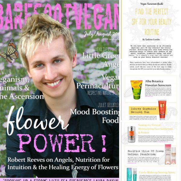 Tashina Combs of Logical Harmony for Barefoot Vegan Magazine July 2015