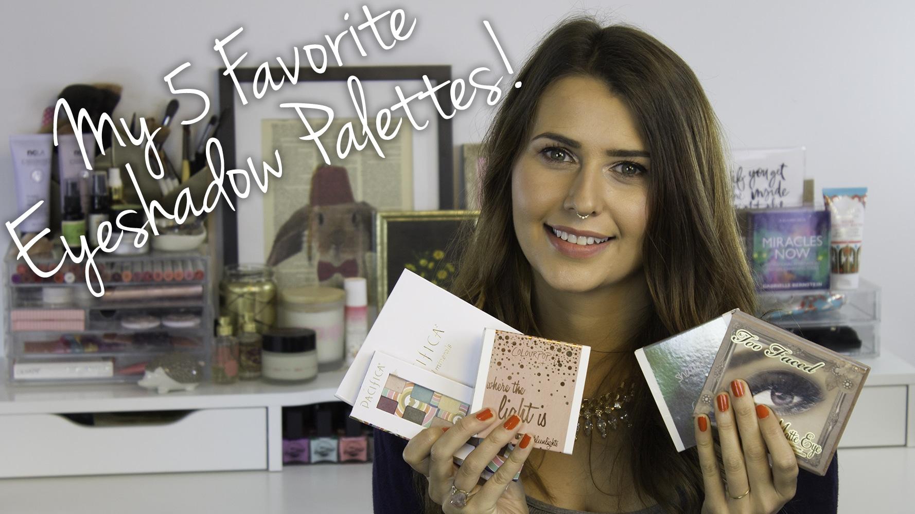 My 5 Favorite Vegan Shadow Palettes Video