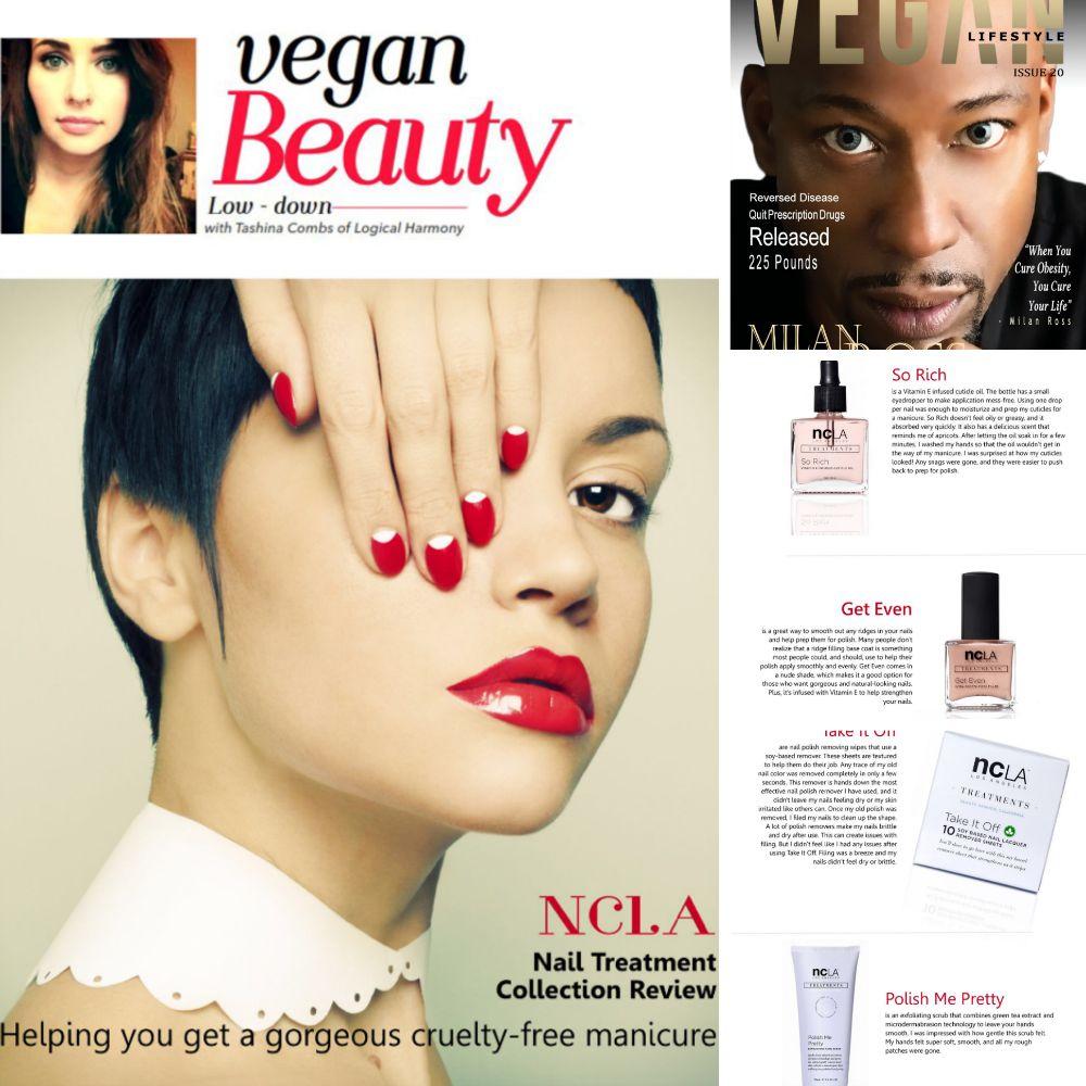 Tashina Combs for Vegan Lifestyle Magazine ft NCLA