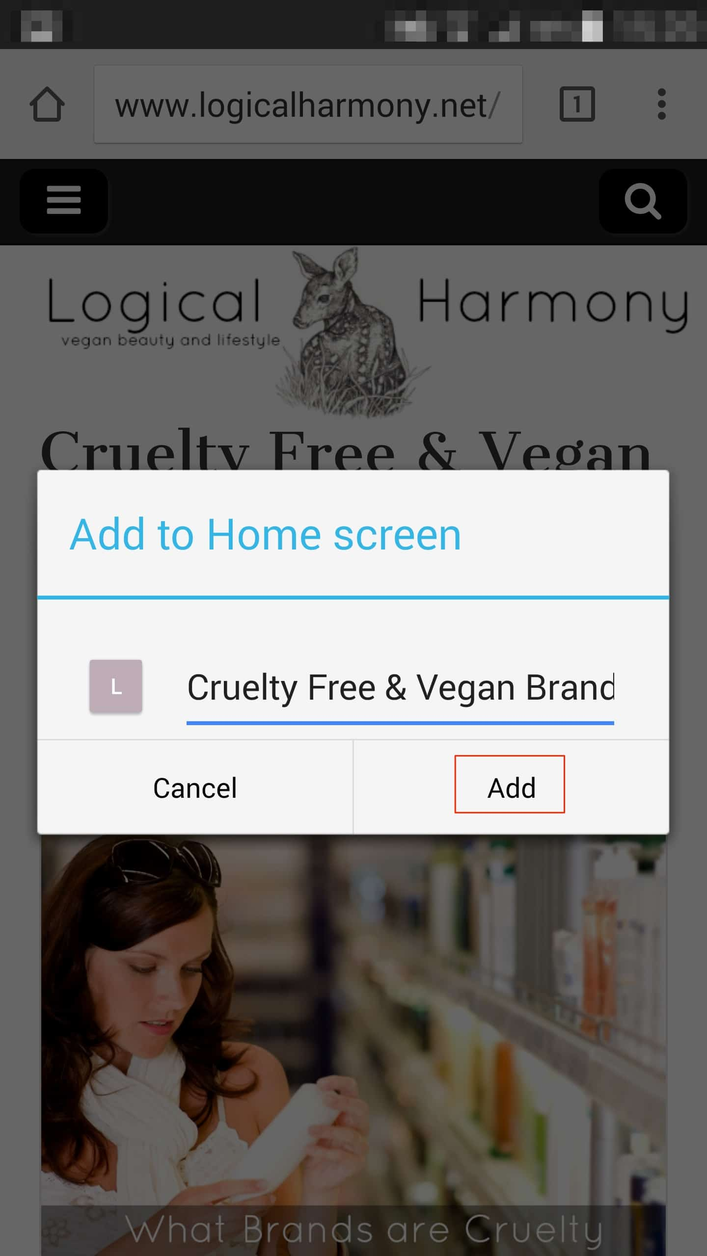 How to Add the Logical Harmony Cruelty Free Brand List to your Droid