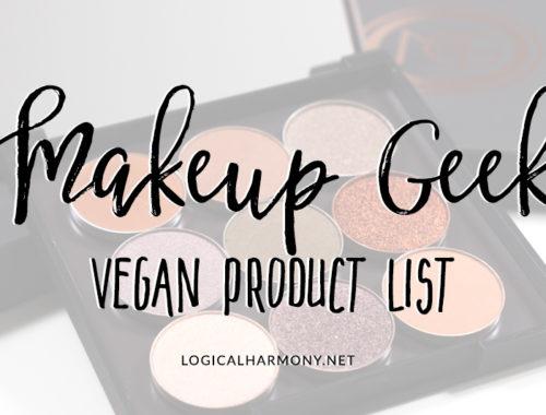 Makeup Geek Vegan Products List