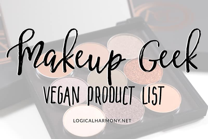 Makeup Geek Vegan Products List