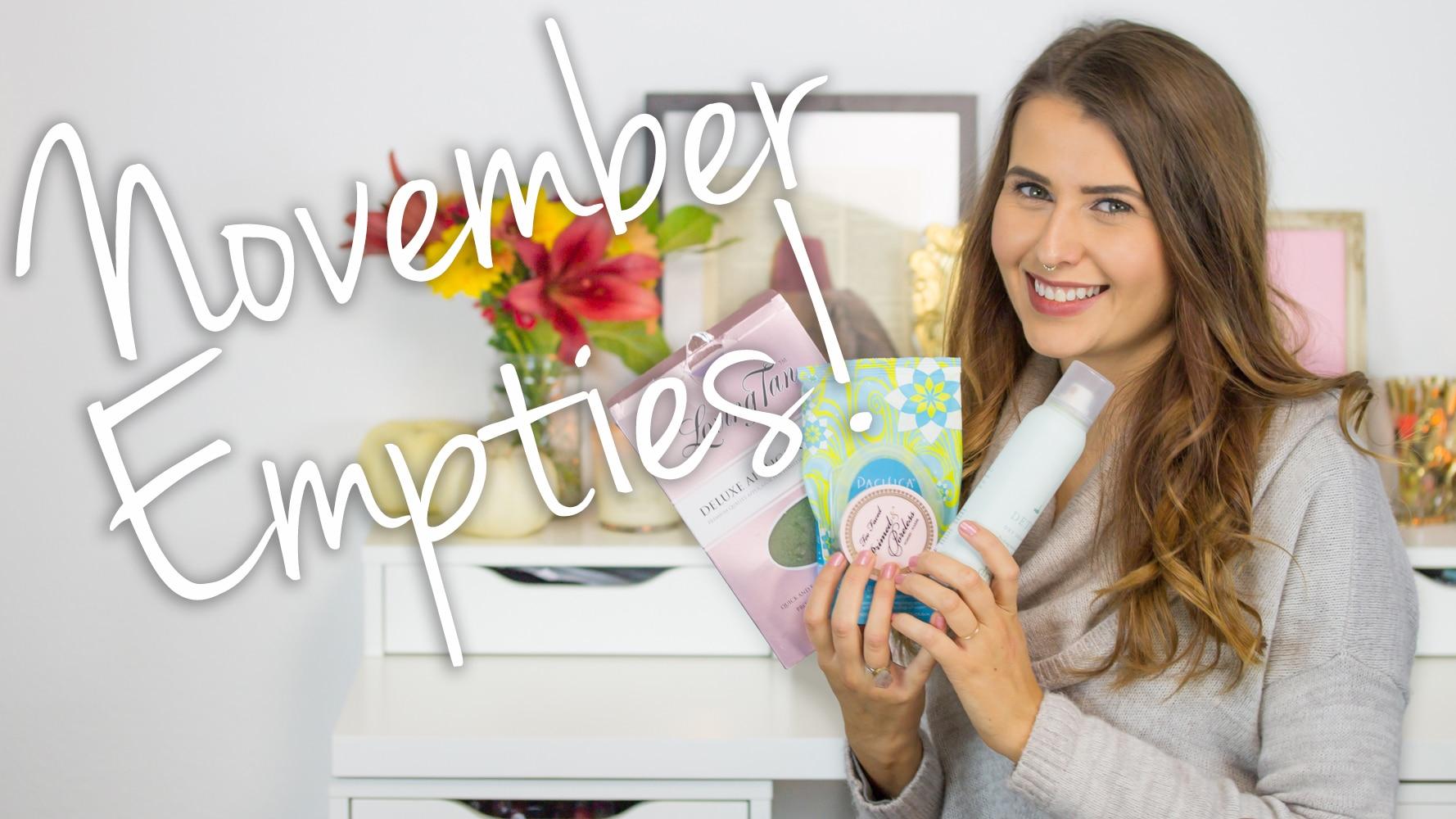November 2015 Empties