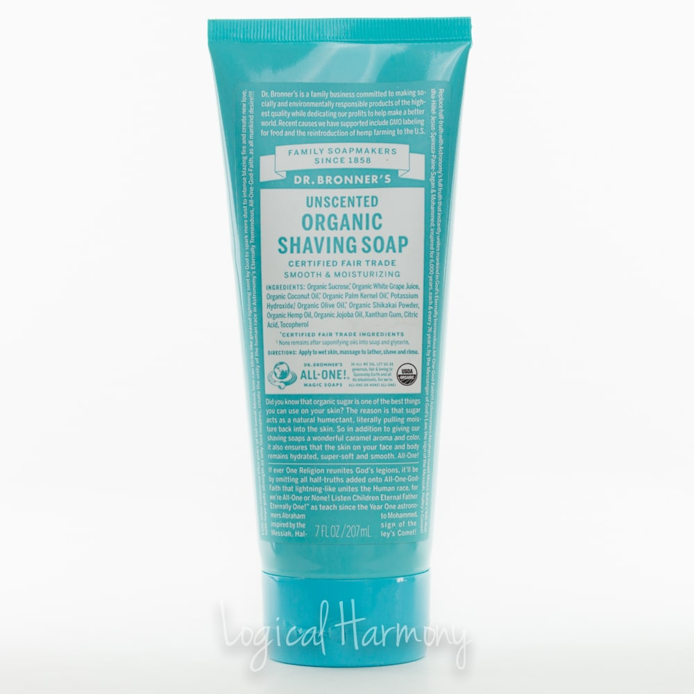Dr. Bronner's Shaving Soap Review