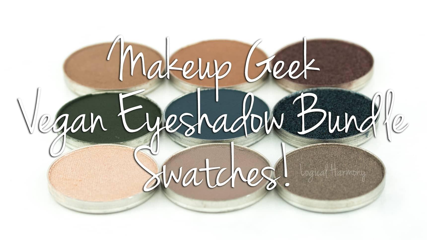 Makeup Geek Vegan Shadow Bundle Swatches