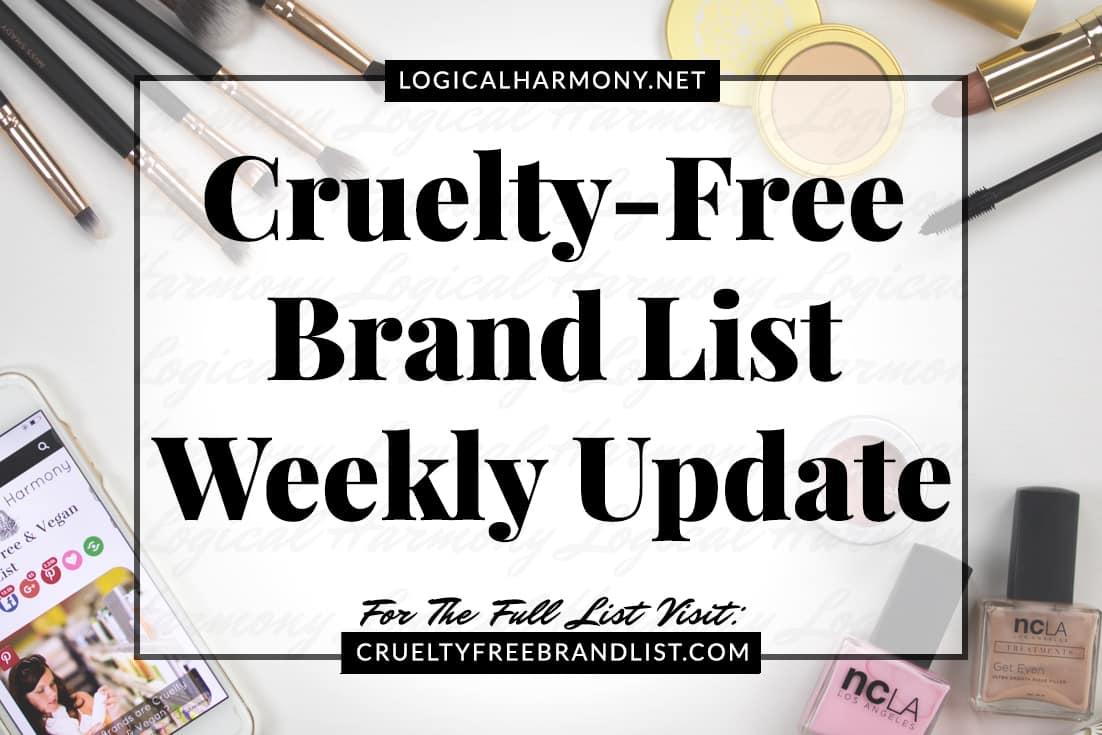 Cruelty Free Brand List Weekly Update