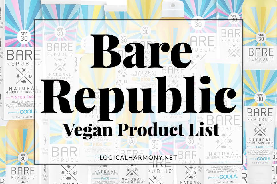 Bare Republic Vegan Products List