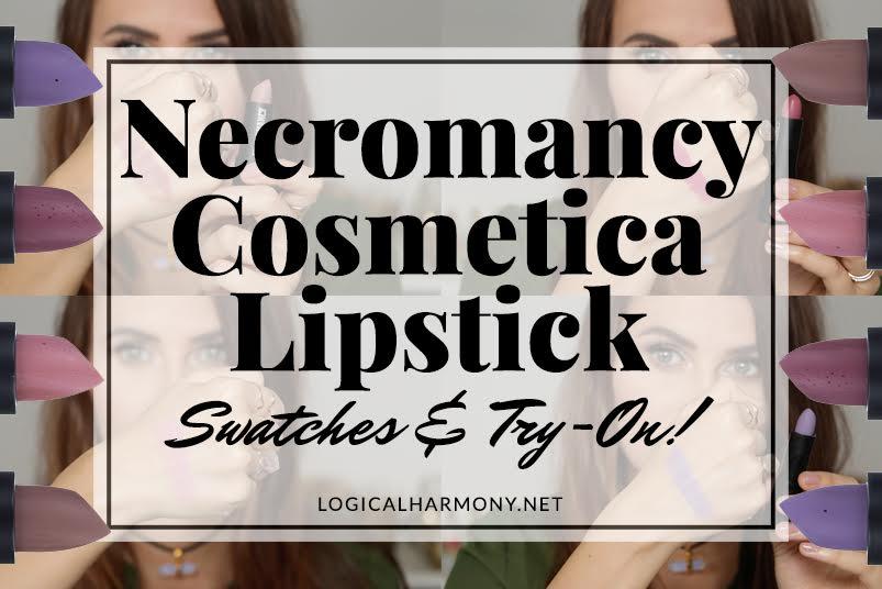 Necromancy Cosmetica Lipstick Swatches & Try-On