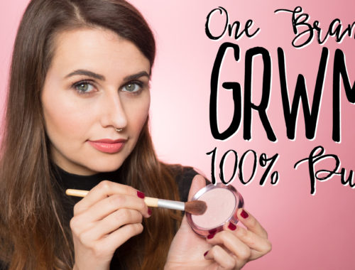 One Brand Get Ready With Me using 100% Pure!