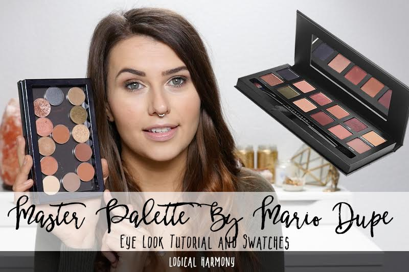 Master Palette by Mario Inspired Eye Look & Swatches with Makeup Geek Dupes
