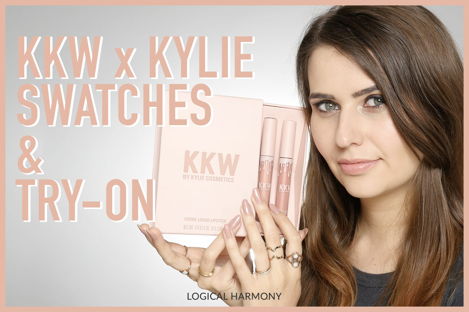 KKW x Kylie Cosmetics Swatches & Try On