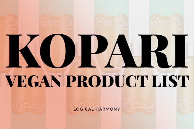 Kopari Vegan Product List
