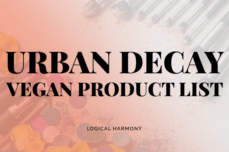 Urban Decay Vegan Products List