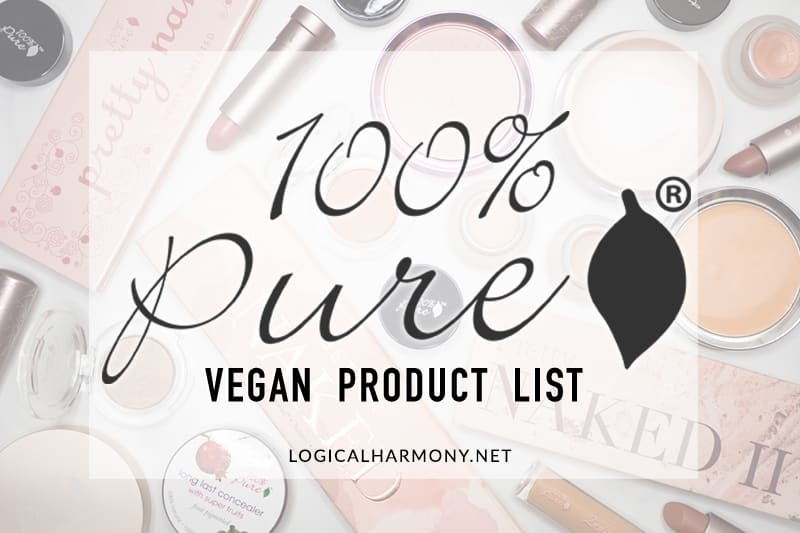 100% Pure Vegan Products List