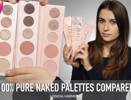 Comparing the 100% Pure Naked Palettes - Swatches of Pretty Naked, Pretty Naked 2 & Better Naked