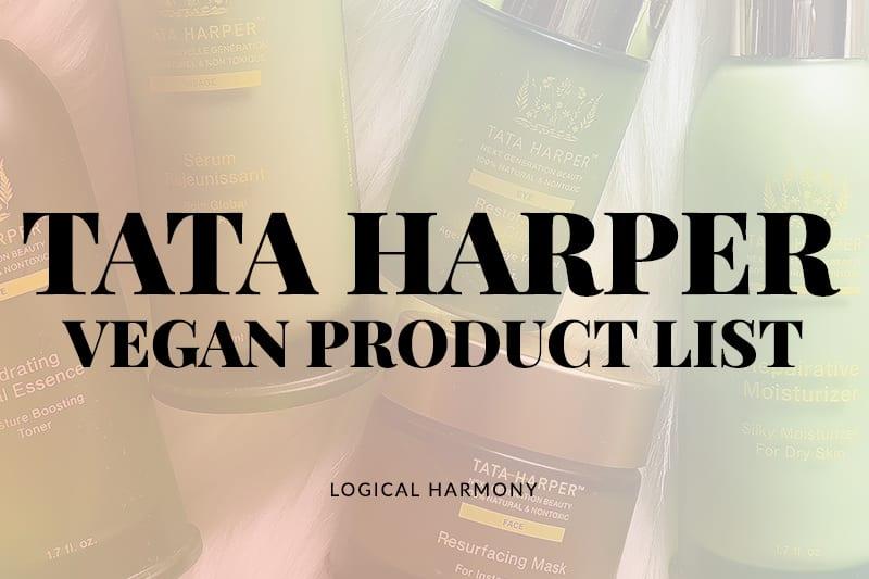 Tata Harper Vegan Products List