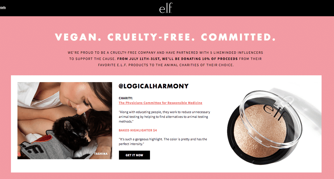 Buy Makeup & Help Animals with e.l.f. Cosmetics!