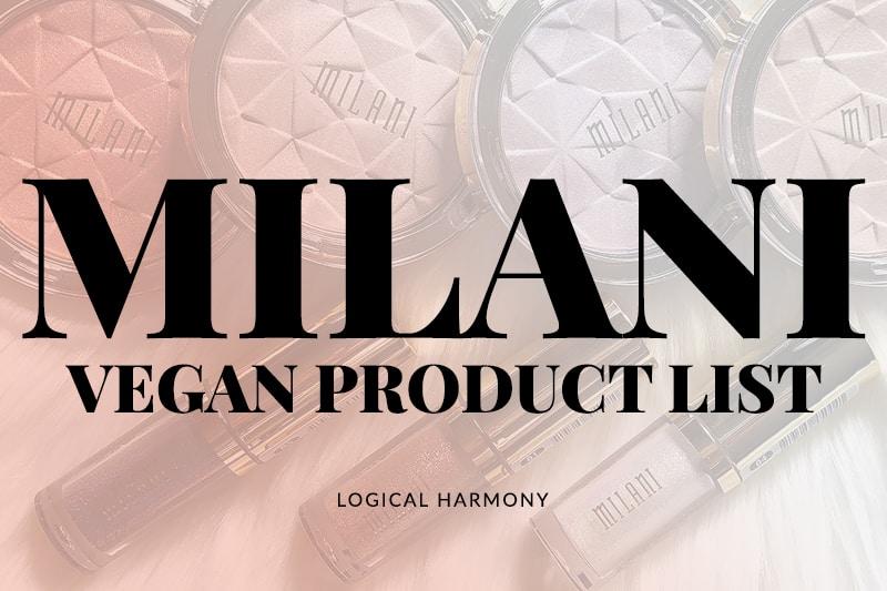 Milani Vegan Products List