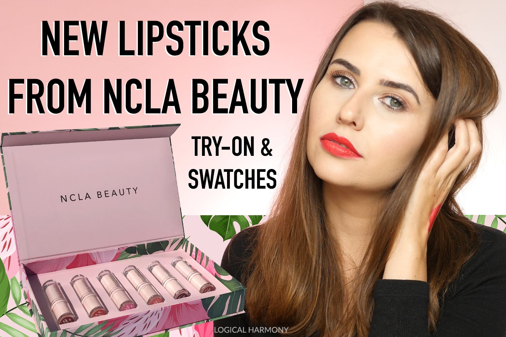 NCLA Beauty Lipstick Try-On & Swatches