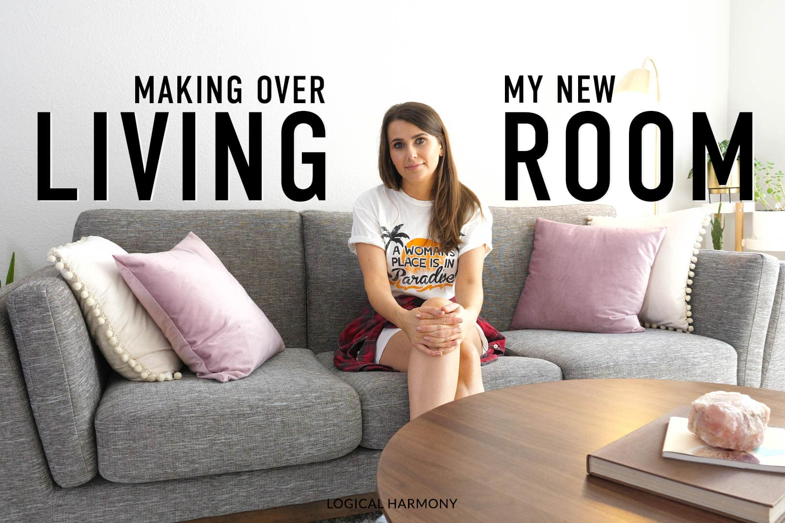 My Living Room Tour & Makeover with Article Vegan-Friendly Furniture!