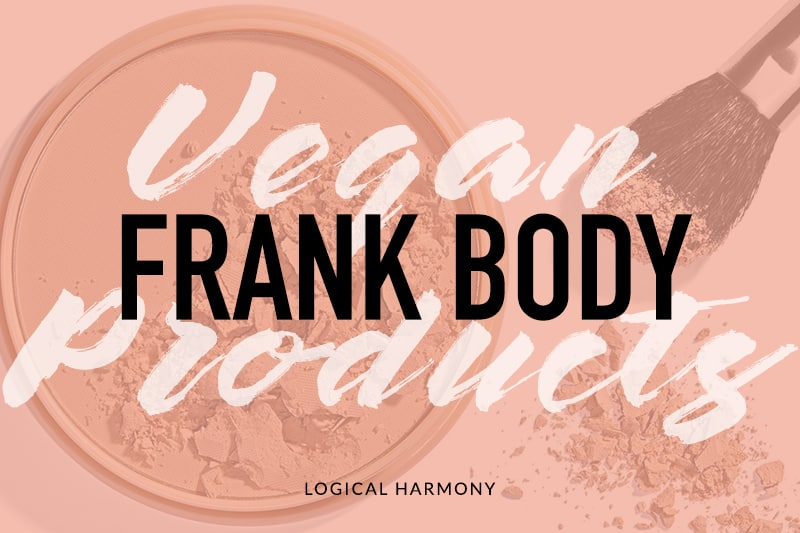 Frank Body Vegan Products List